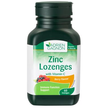 Adrien Gagnon Zinc Lozenges with Vitamin C Berry Flavour