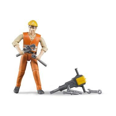 Bruder Toys Construction Worker Figure
