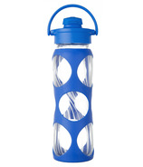 Lifefactory Glass Bottle Electric Wave Flip Cap & Silicone Sleeve