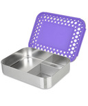 LunchBots Trio Bento Purple Dots