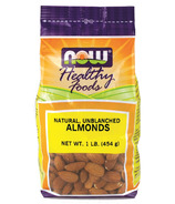NOW Real Food Natural Unblanched Almonds