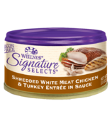 Wellness Signature Selects Shredded Chicken & Turkey Wet Food CASE OF 24