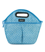 PackIt Freezable Traveler Lunch Bag Chambray Dot