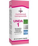 UNDA Numbered Compounds UNDA 1 Homeopathic Preparation