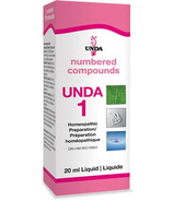 UNDA Numbered Compounds UNDA 1 Homeopathic Preparation