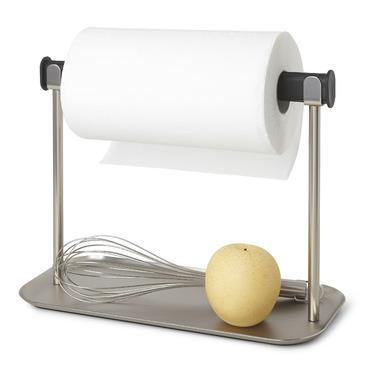 Umbra Limbo Paper Towel Holder With Tray Black & Nickel