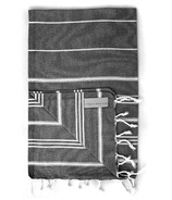 Stray & Wander Marin Turkish Hand Towel Black