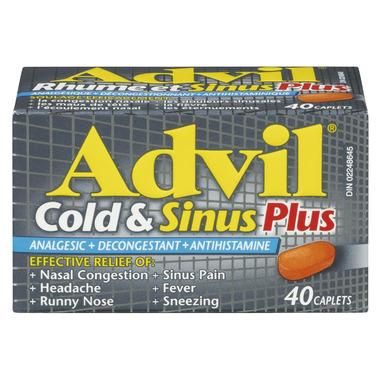 Advil Cold & Sinus Plus Caplets