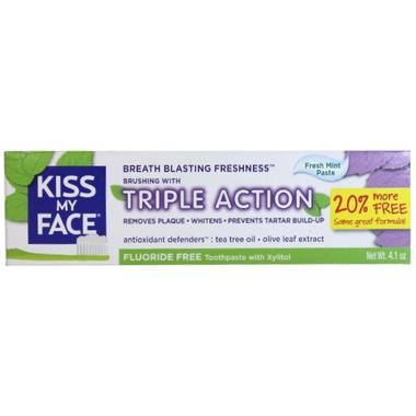 Kiss My Face Triple Actions Flouride Free Toothpaste