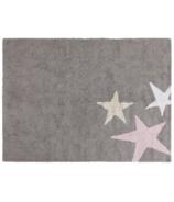 Lorena Canals Washable Rug Three Stars Pink