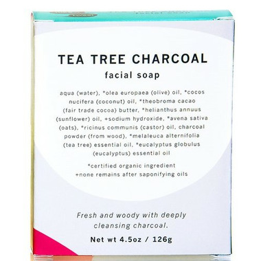 meow meow tweet Tea Tree Charcoal Bar Soap