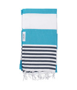 Lualoha Turkish Towel Striped Goodness Blue & Navy