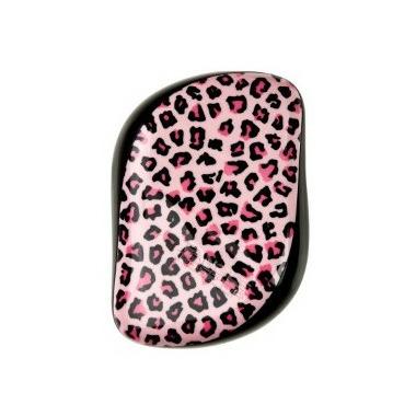 Tangle Teezer Compact Styler Detangling Hairbrush Pink Leopard