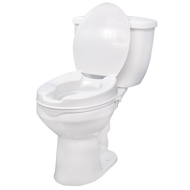 Drive Medical Raised Toilet Seat with Lid