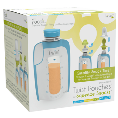 Kiinde Foodii Squeeze Snack Pouches