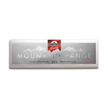 Waterbridge Swiss Mountain Range Dark Chocolate Bar