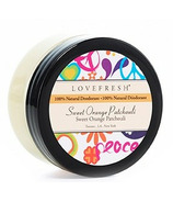Lovefresh All-Natural Cream Deodorant Pot Sweet Orange Patchouli