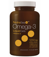 NutraSea+D Omega-3 Liquid Gels + Vitamin D