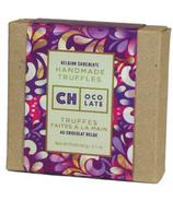 CH Ocolate Belguin Chocolate Homemade Purple Petal Truffles