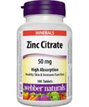 Webber Naturals Zinc Citrate Tablets
