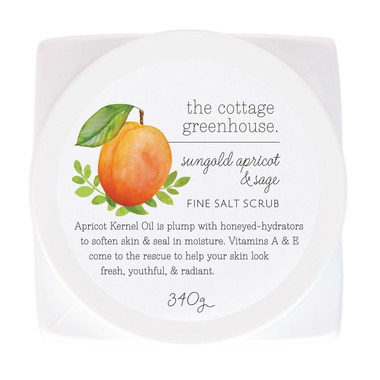 The Cottage Greenhouse Sungold Apricot & Sage Fine Salt Scrub