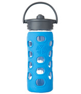 Lifefactory Glass Bottle Straw Cap & Ocean Silicone Sleeve