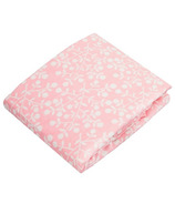 Kushies Flannel Fitted Crib Sheet Berries Pink