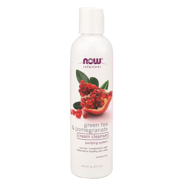 NOW Solutions Green Tea & Pomegranate Cream Cleanser