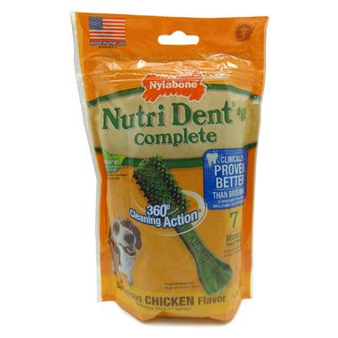 Nutri Dent Complete Dental Chews Chicken Medium Size 7 Pack