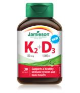 Jamieson Vitamin K+D 120mg/1000iu