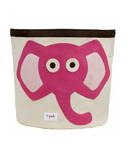 3 Sprouts Storage Bin Pink Elephant