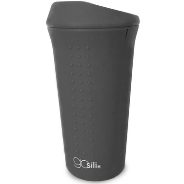 GoSili To Go Coffee Cup Charcoal Grey