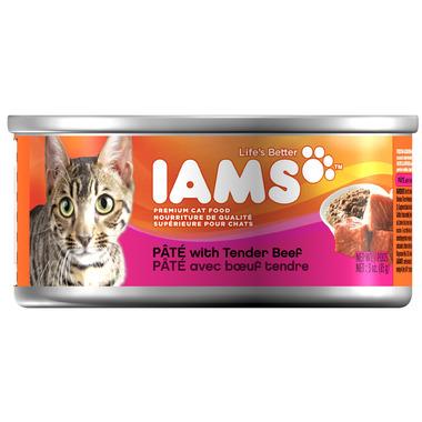 Iams Cat Food Pate With Tender Beef