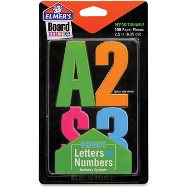 Elmer\'s Bright Letters & Numbers Stickers