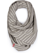 Skip Hop Grab & Go Hide & Chic Nursing Scarf Grey Stripe