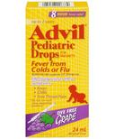 Advil Pediatric Drops For Infants Fever from Colds or Flu Dye Free Grape