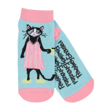 Little Blue House Women\'s Ankle Socks Pawsitively Exhausted