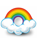 Incredible Novelties Rainbow with Clouds Pool Floaty