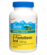 Swiss Natural Sources D-Pantothenic Acid 1000mg Timed Release