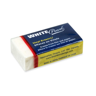 Ticonderoga White Pearl Vinyl Erasers