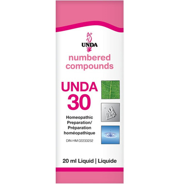 UNDA Numbered Compounds UNDA 30 Homeopathic Preparation
