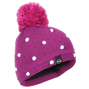 Kombi The Micro Dot Junior Hat Purple Wine Micro Dot