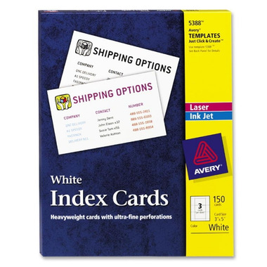 Avery Laser/Inkjet Index Cards
