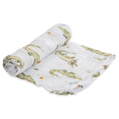 Little Unicorn Cotton Muslin Swaddle Blanket Gators