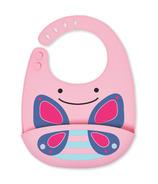 Skip Hop Zoo Fold & Go Silicone Bib Butterfly