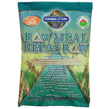 Buy Garden Of Life Raw Meal Replacement Formula Sachet At Free Shipping 35 In Canada