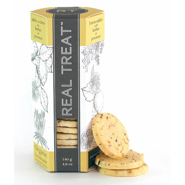 Real Treat Organic Lemon Sables with Herbes de Provence Cookies