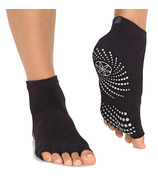 Gaiam Toeless Yoga Socks Black