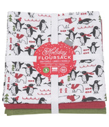 Now Designs Floursack Penguin Popper Dishtowel Set