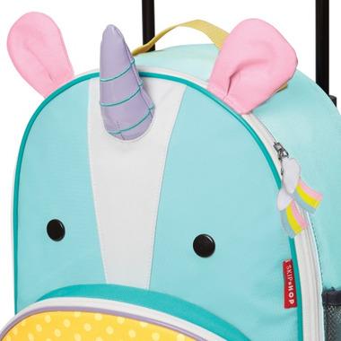 Skip Hop Zoo Kids Rolling Luggage Eureka Unicorn